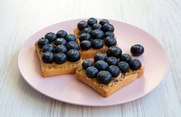 Nutty blueberry toast