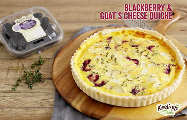 Blackberry & Goats Cheese cake