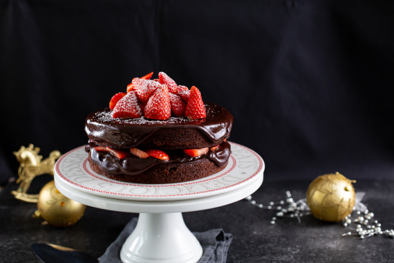 Strawberry Chocolate Cake Recipe Image